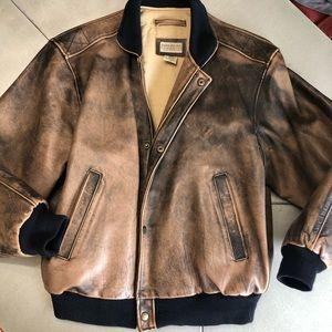 Banana Republic leather jacket men's 44 VINTAGE